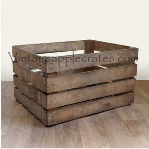 Narrow Standard Apple Crates Strength Rating 3 Wooden Storage