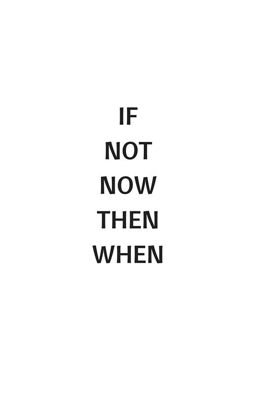 IF NOT NOW THEN WHEN Poster by IdeasForArtists
