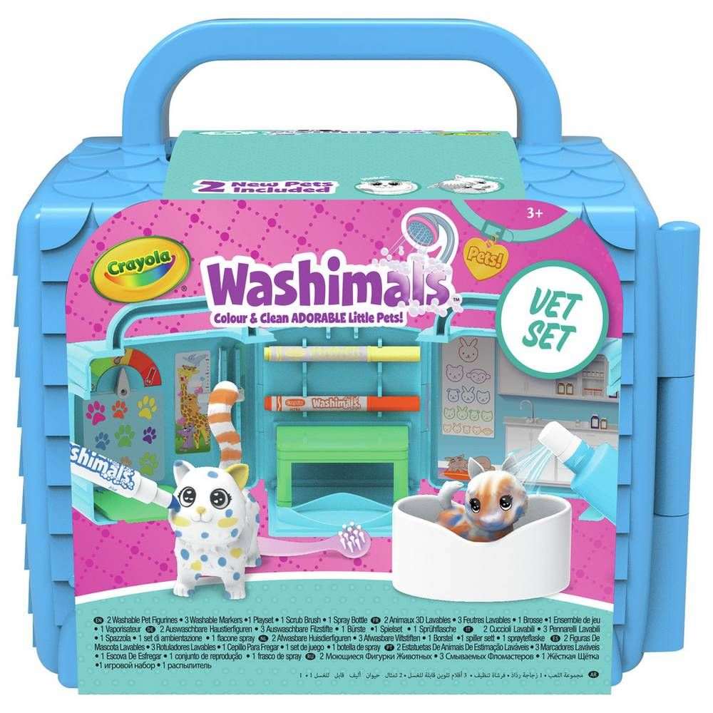 Buy Crayola Washimals Vet Clinic Playset Painting