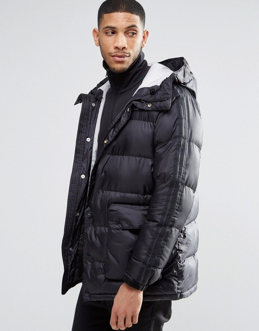 Details about Adidas Originals Padded Parka Men's Winter Jacket Coat