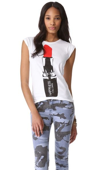 Graphic tee. Happiness Get Your Rouge On Tee
