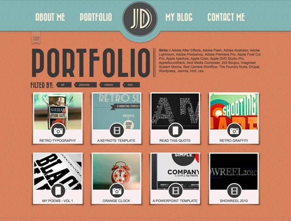 "Retro Portfolio – One Page Vintage Template ""Retro Portfolio"" is a ..."