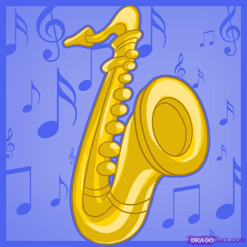 How to draw a saxophone by dawn saxophone sculpture