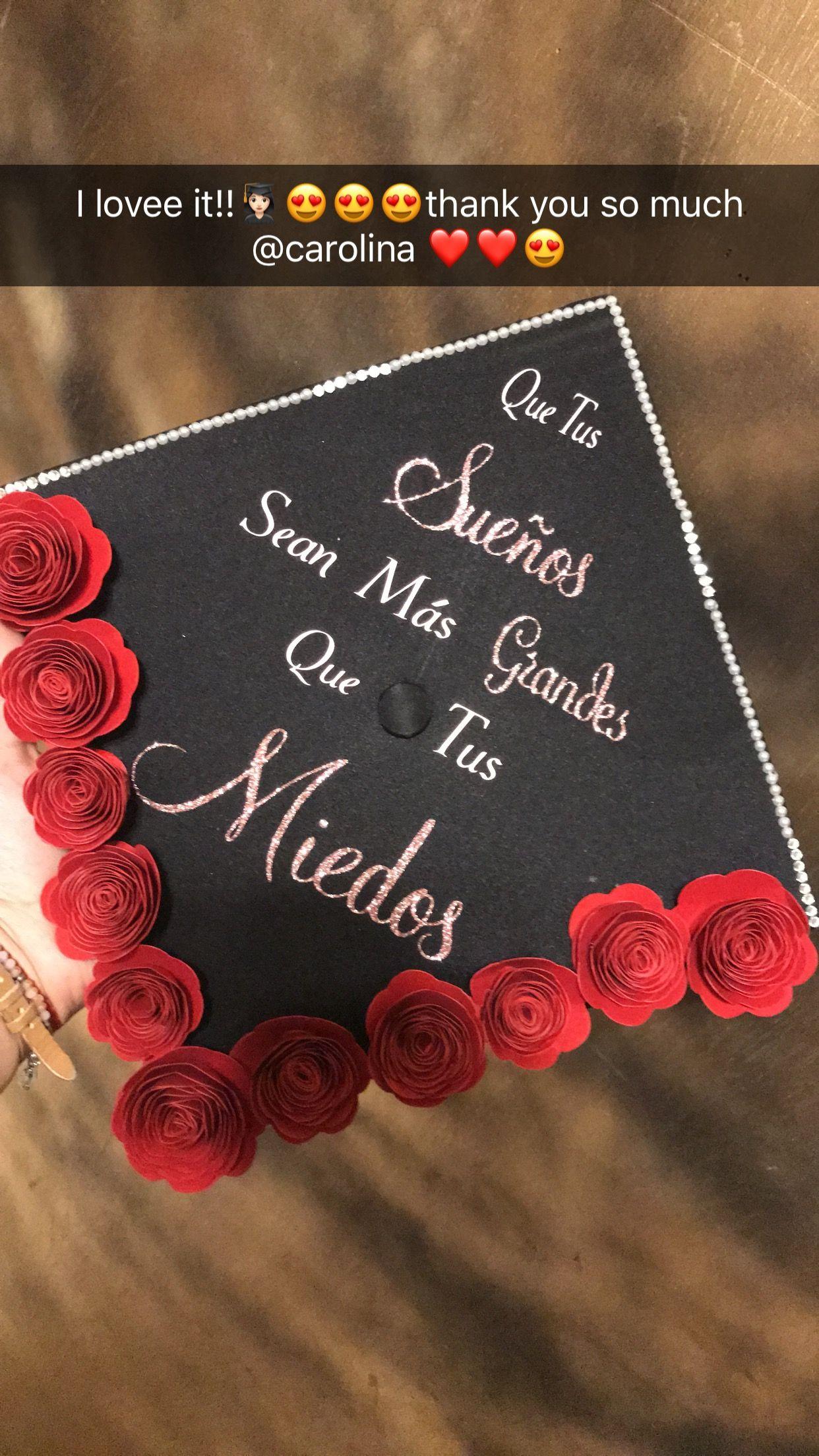 Graduation cap #quetussuenosseanmasgrandesquetusmiedos #graduation ...