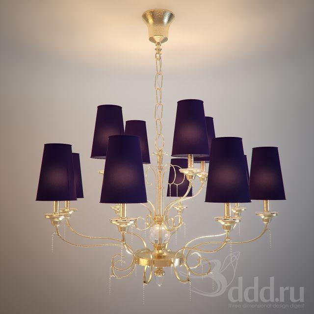 PROFI Chandelier 3dsMax 2012 + obj (Vray) : Ceiling light : 3dSky ...