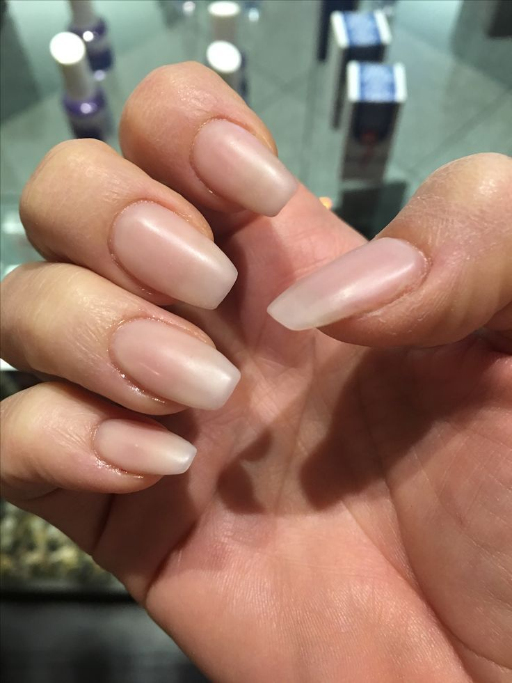 Acrylic nails natural look matte finish | nail art | Pinterest