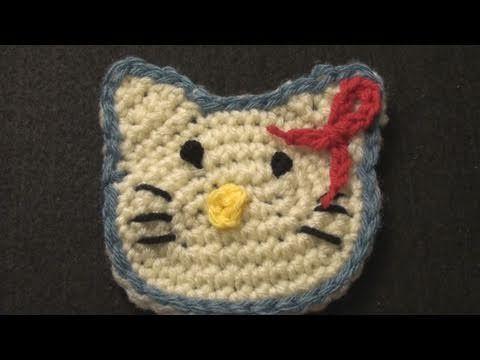Pretty kitty crochet applique please share crochet geek
