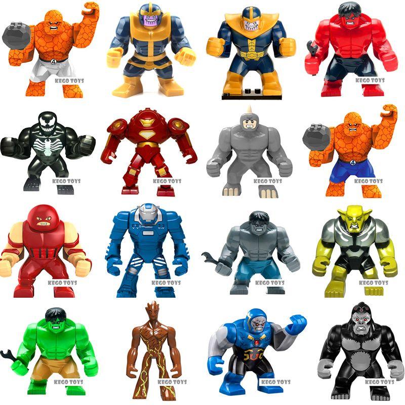 Single Sale Super Heroes Infinity War Green Goblin Killer Croc Hulkbuster Action Figure Models Building Blocks Bricks Toys Gift Model Building Blocks