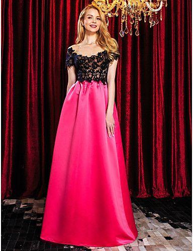 0ab06a540d Vestido de Noche Satén Tul Dos Colores   Vestidos de Fiesta Baratos Blog