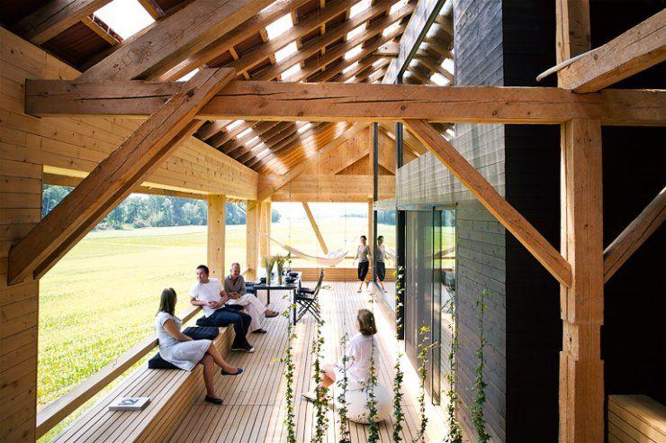 terrace barn conversion pinterest alte scheunen scheunen und umbau. Black Bedroom Furniture Sets. Home Design Ideas
