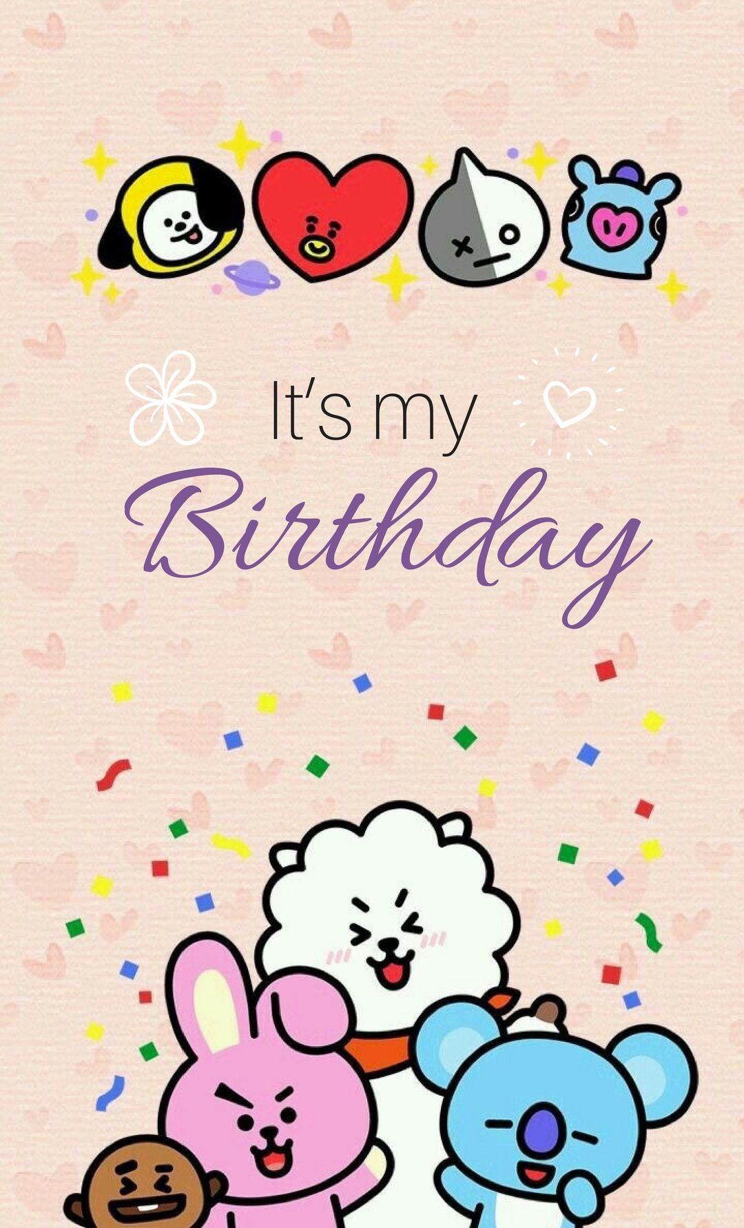 Bt21 Bday Birthday Bts En 2020 Cumpleaños De Oficina