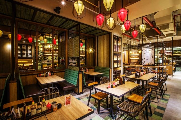 Namnam Noodle Bar By Metaphor Interior Architecture Jakarta Indonesia Restaurant Exterior Design Bistro Interior Noodle Bar