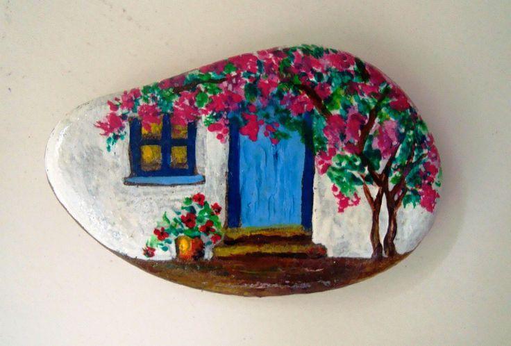 Casas Pintura Rupestre Piedras Pintadas Piedras Pintadas Para Jardin
