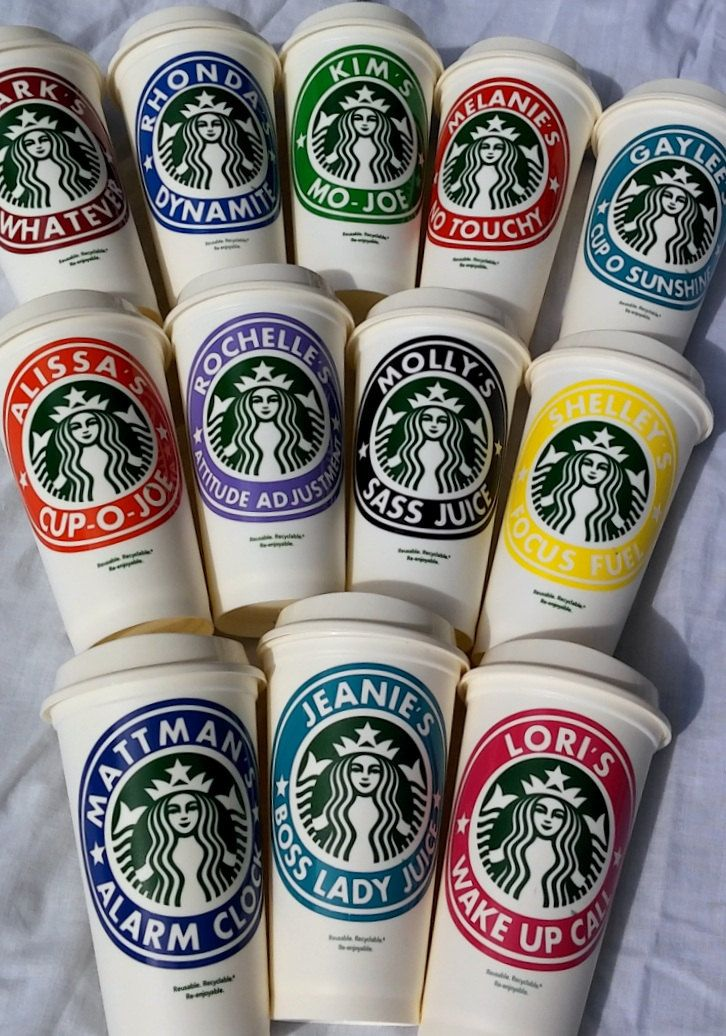 Personalized Gift, Starbucks Caffeine and Wine Cup