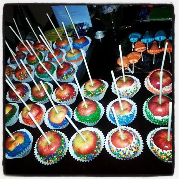 First Birthday Boy Party Loot Bag Single: Chocolate Cover Candy Apples For The Kids Birthday Party