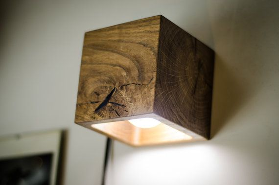 Wall lamp wooden cube18 handmade wall light sconce wood lamp wall lamp wooden cube18 handmade wall light sconce wood lamp aloadofball Images