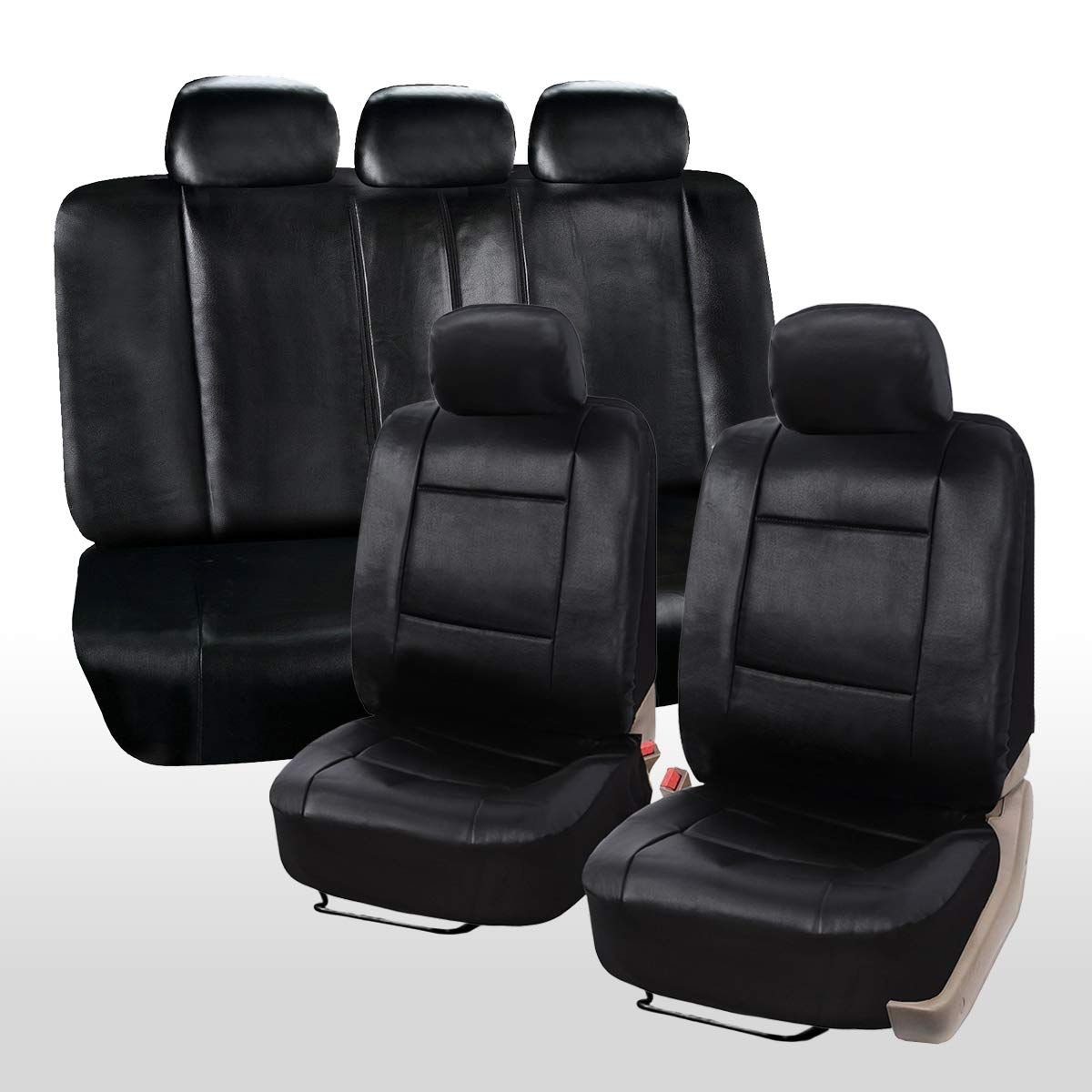 Zone Tech Universal Leather Car Seat Covers 11Piece