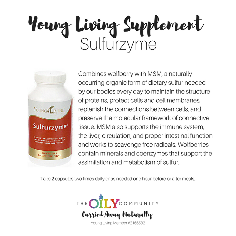 Sulfurzyme Young Living Pinterest Young Living Supplements