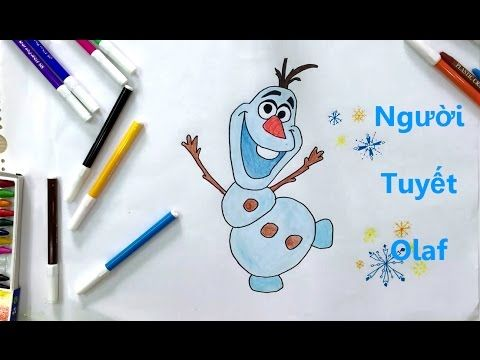Cach Vẽ Người Tuyết Olaf How To Draw Snowman Olaf Họa Sĩ Ty Hon Người Tuyết Olaf Drawing