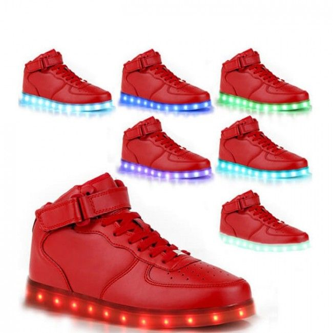 Red LED Light Up Shoes For Men, wick