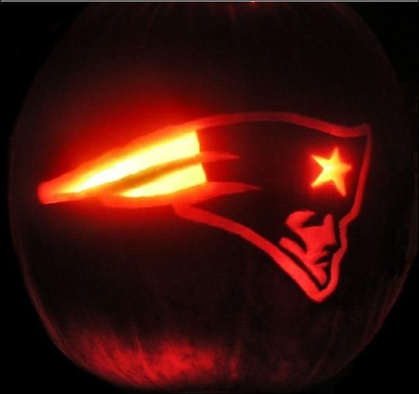 Carve a patriots pumpkin free template here http