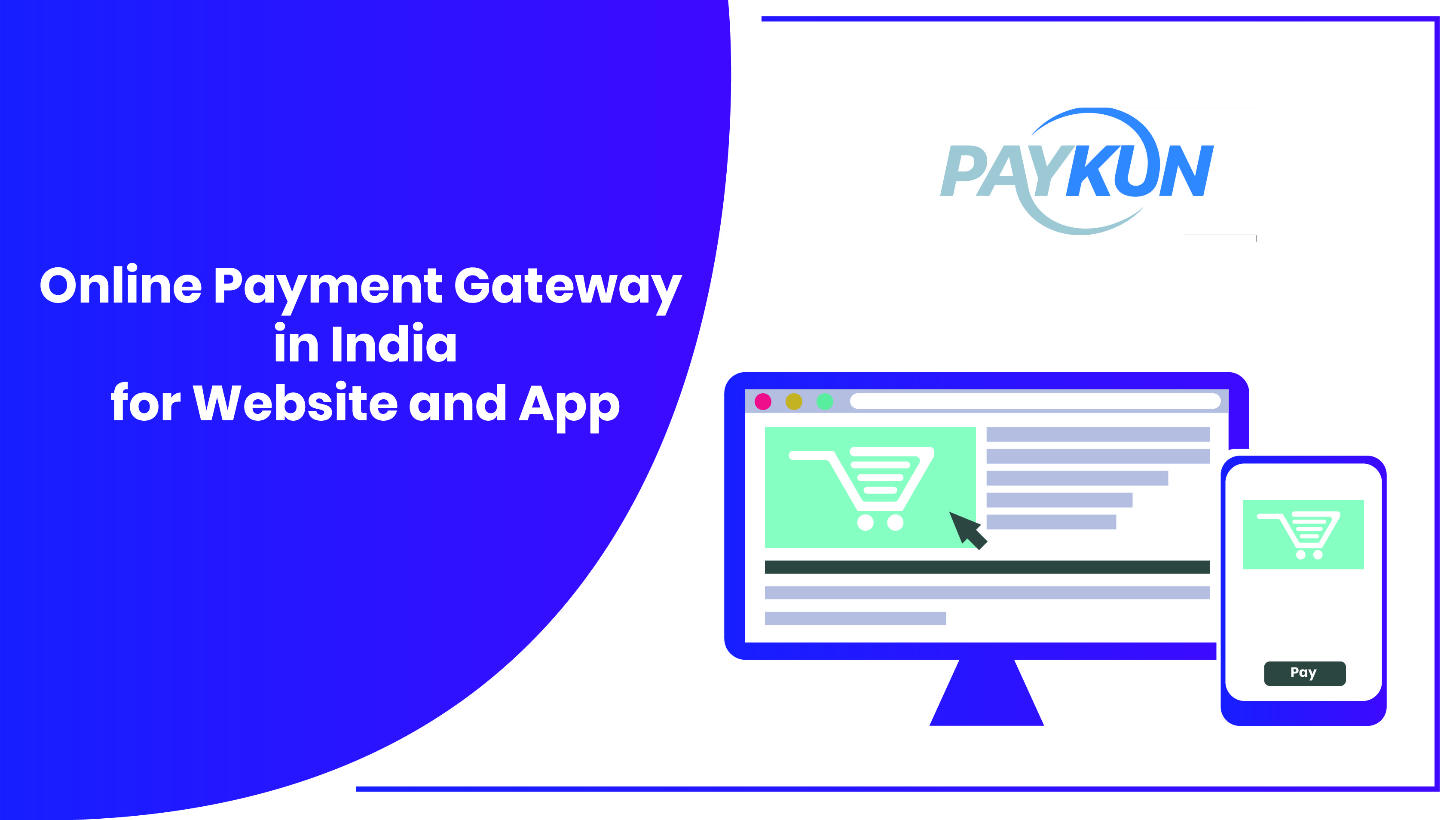 Online Payment Gateway in India for website and App in