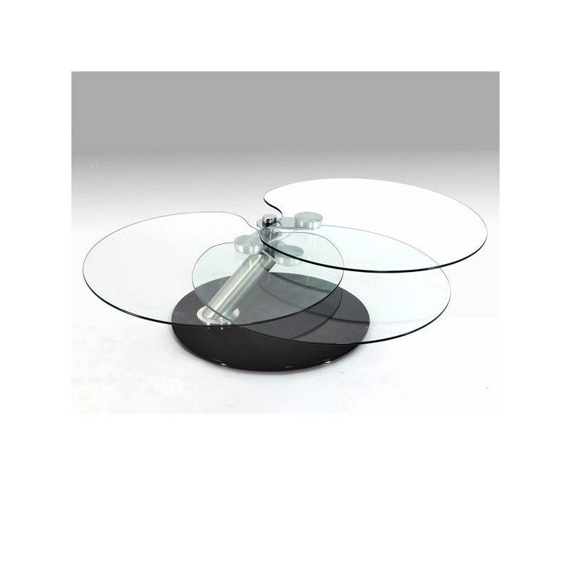 Avec Plateau Basse PivotantMon Style Déco Table Verre En xhBosrCtQd