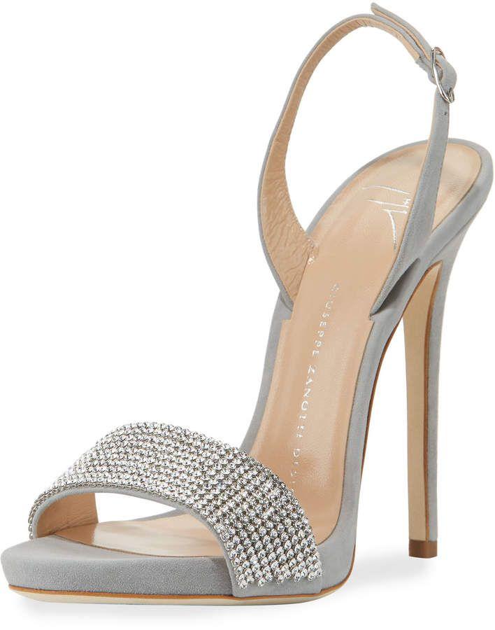 Giuseppe Zanotti Coline Crystal Slingback Sandal Slingback Sandal Giuseppe Zanotti Heels Shoes