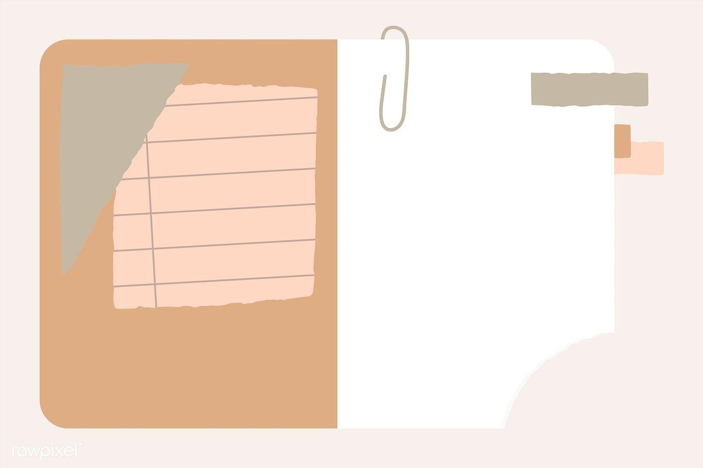 Download Premium Vector Of Agenda With Notepaper Template Vector