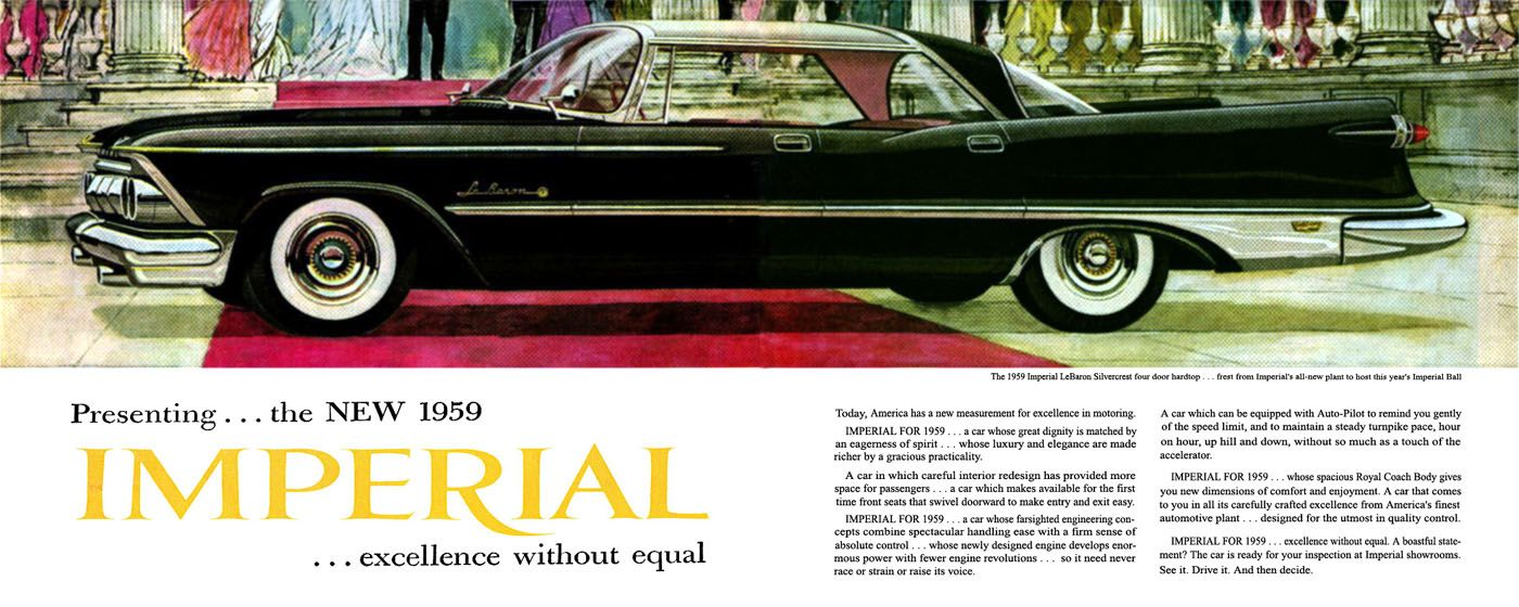 1959 Imperial Ad01 Chrysler imperial, Vintage ads