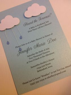 April Showers Baby Shower Invitation By Laladoodles Boutique
