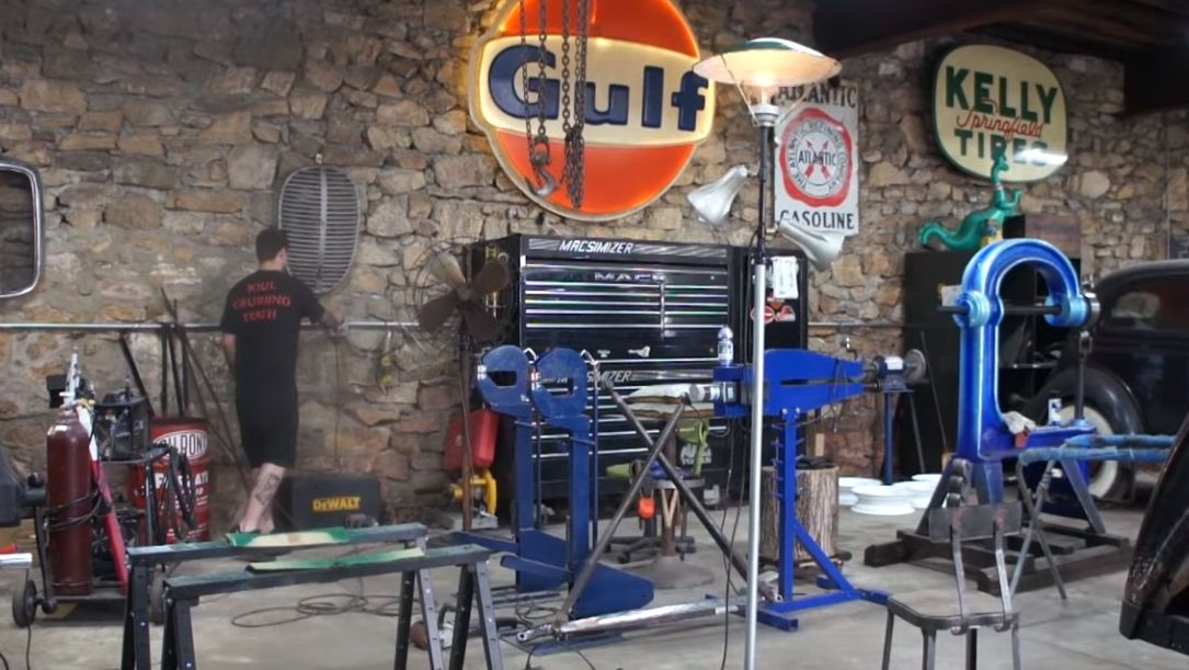 Vintage Service Station Gas Pump Light Restoration Project
