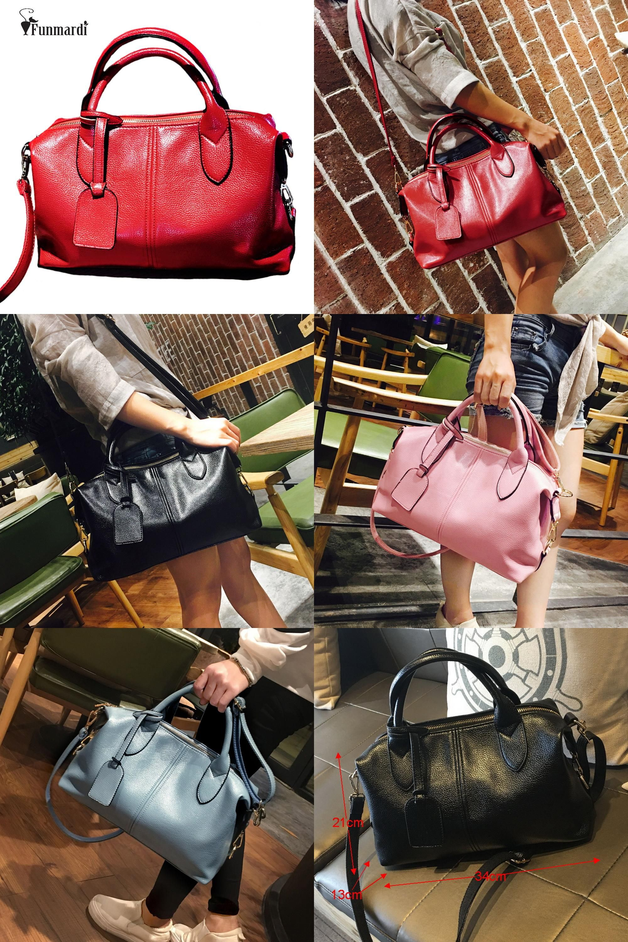 6a848a7ca92b  Visit to Buy  Luxury good quality women PU leather Boston bag Fashion  trendy women