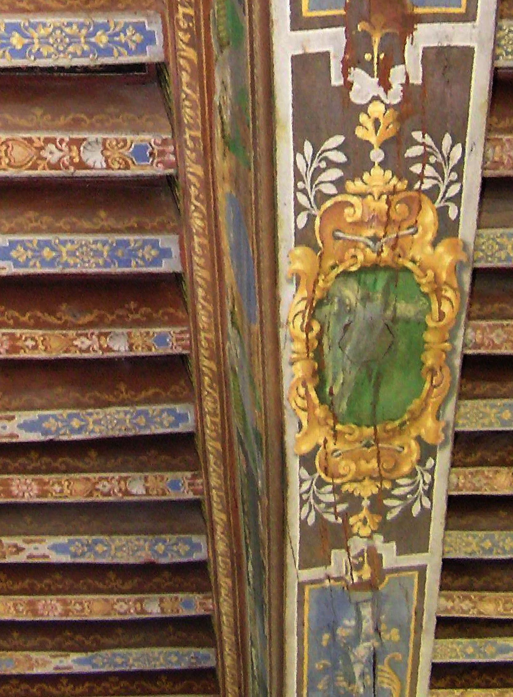 Vigas decoradas tapices alfombras papel murales cortinas textiles pavimentos cojines - Murales de madera ...