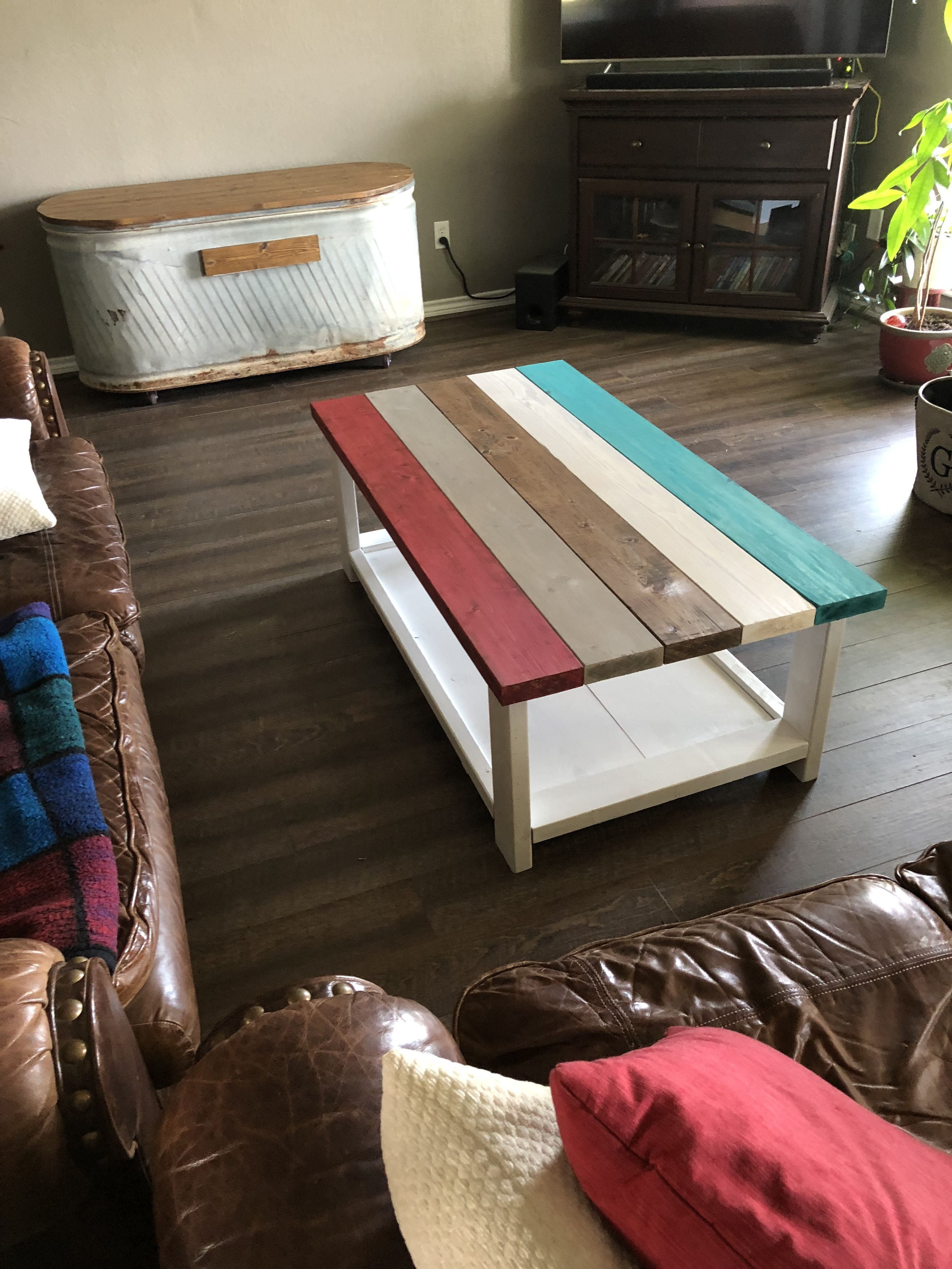 Coffee Table my wife and I finished. Coffee table