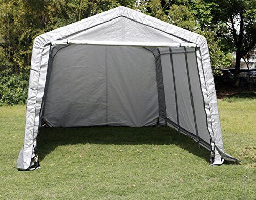Bestmart Inc Auto Super Max Garage Storage Shed Canopy Carport Gray 10x15x8ft Metal Carport Kits Carport Carports For Sale