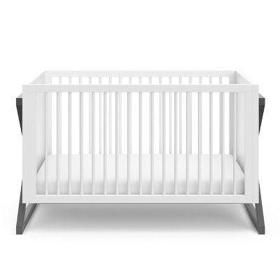 Storkcraft Standard Full Sized Crib White Gray