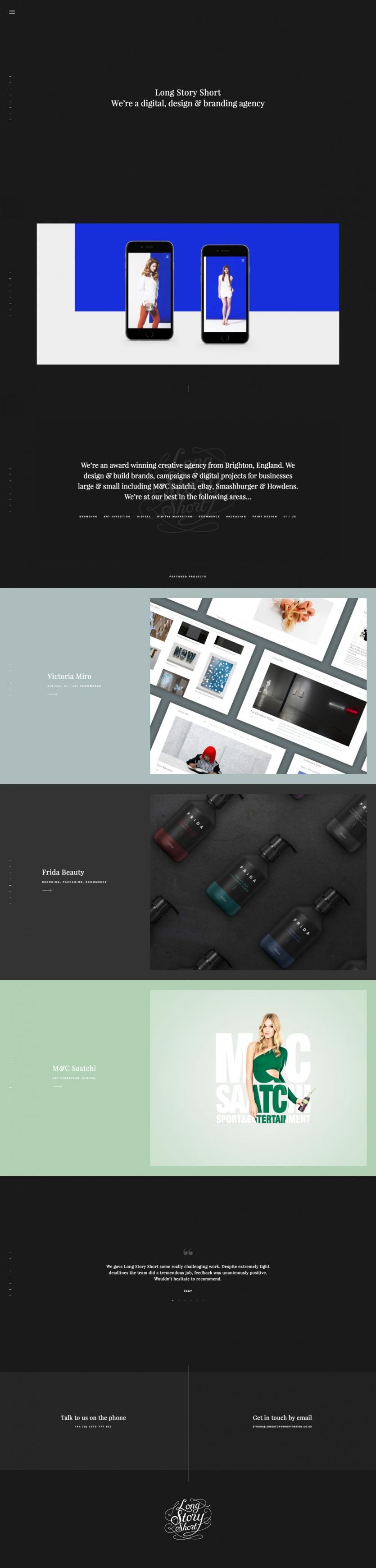Long Story Short Web Design Web Design Inspiration Mobile Web Design