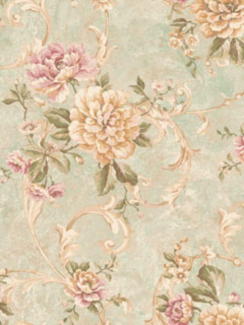 Sa50204 Catina Floral Totalwallcovering Com Vintage Floral Wallpapers Floral Wallpaper Classic Wallpaper