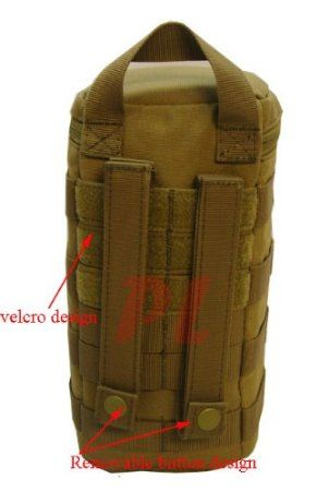 394c17ab4ad6 Amazon.com   Molle Modular CAMERA LENS POUCH Optic Sight Protection Lens  Belt Bag Pouch-TAN   Hiking Hydration Packs   Sports   Outdoors