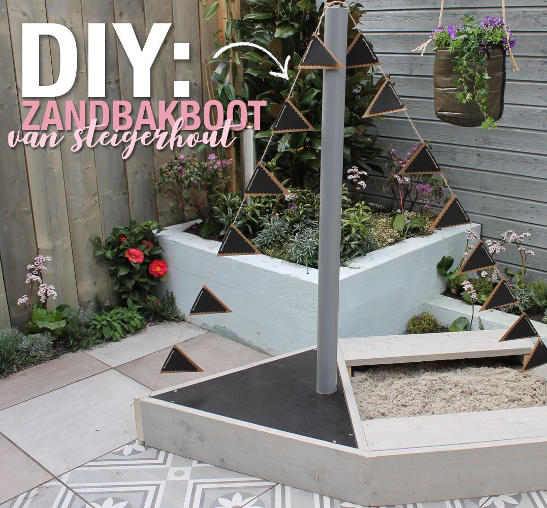 Diy Tuin Diy Zandbakboot Tuin Garden Patio En Outdoor