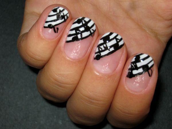 Music Notes Nail Design - Music Notes Nail Design Nails<3 Pinterest Nail Art, Nails And
