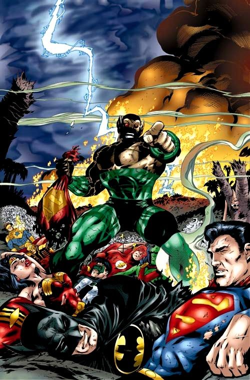 Amazo vs Justice League of America by Howard Porter