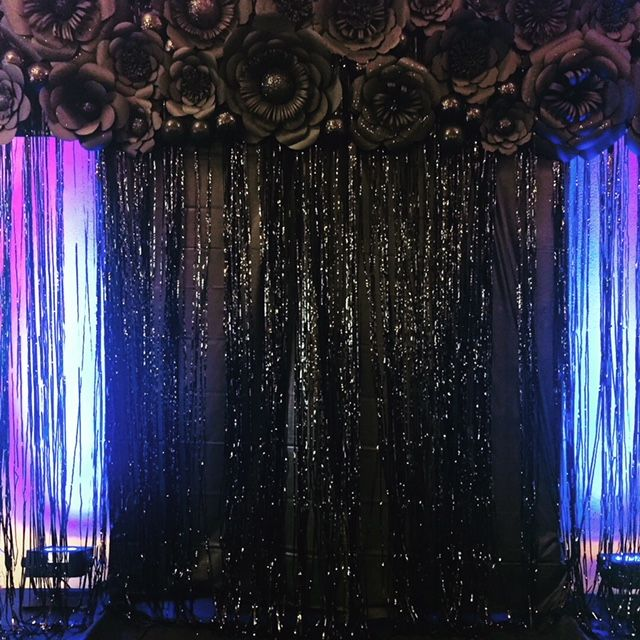 This fabulous backdrop was used for a non-profit event to frame a ...
