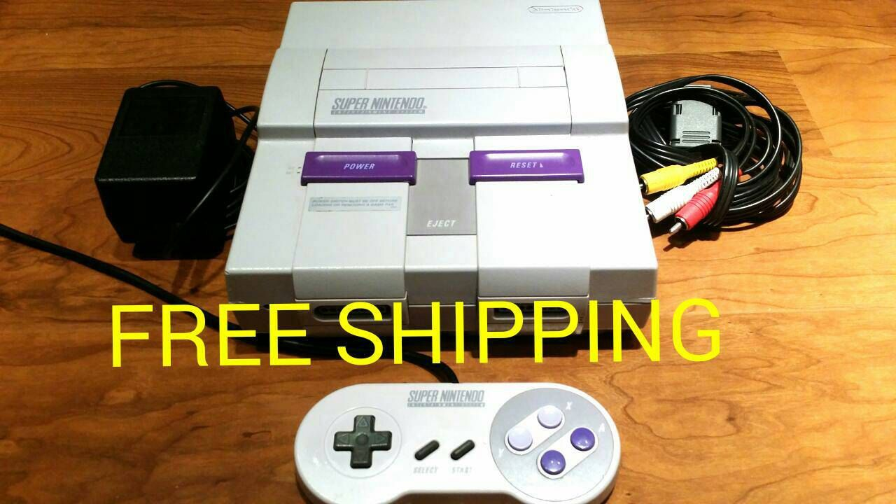 Super Nintendo console, snes system,  snes console, super nes console, snes video game, super Nintendo  bundle ups - pinned by pin4etsy.com