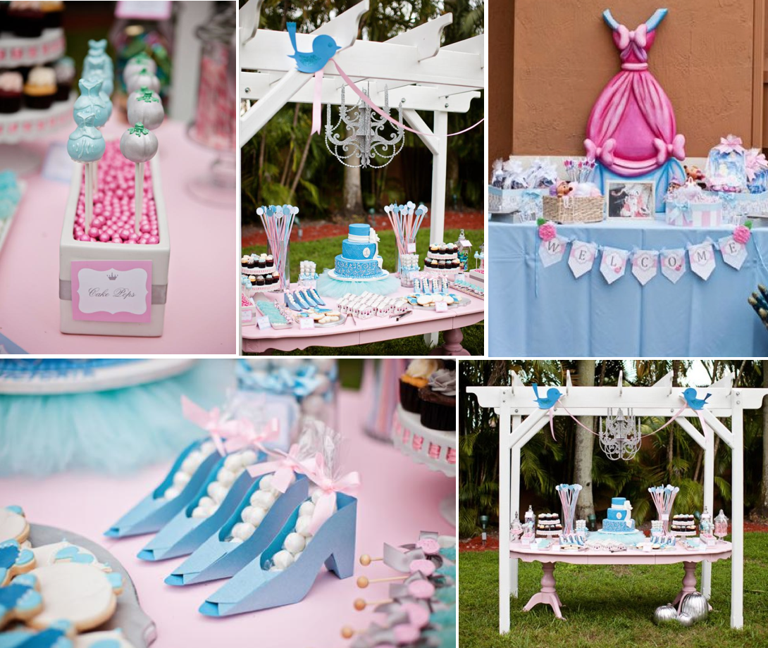 Disney Theme Decorations Disney Princess Cinderella Girl 1st Birthday Party Planning Ideas