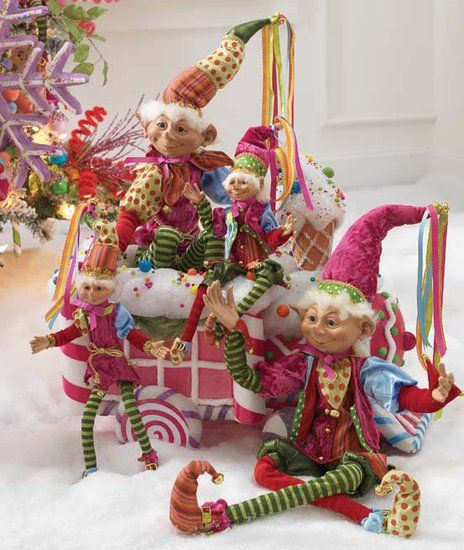 Whimsical Christmas Trees Ideas: Colourful And Whimsical Christmas Jesters