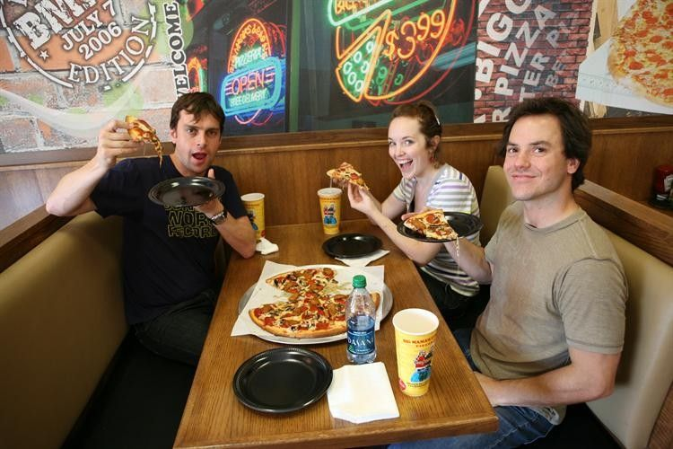 Pizza and smiles. That's what life's about!