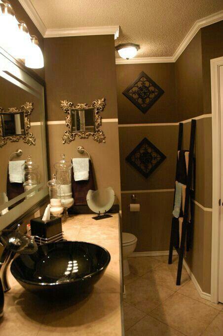 Want To Try Brown Bathroom Decor Restroom Decor Brown Bathroom