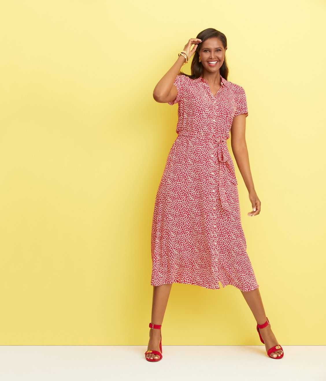 A Sweep Of Softness Lends Summery Charm Mytalbots Modernclassicstyle Dresses Talbots Dress Fashion [ 1320 x 1128 Pixel ]